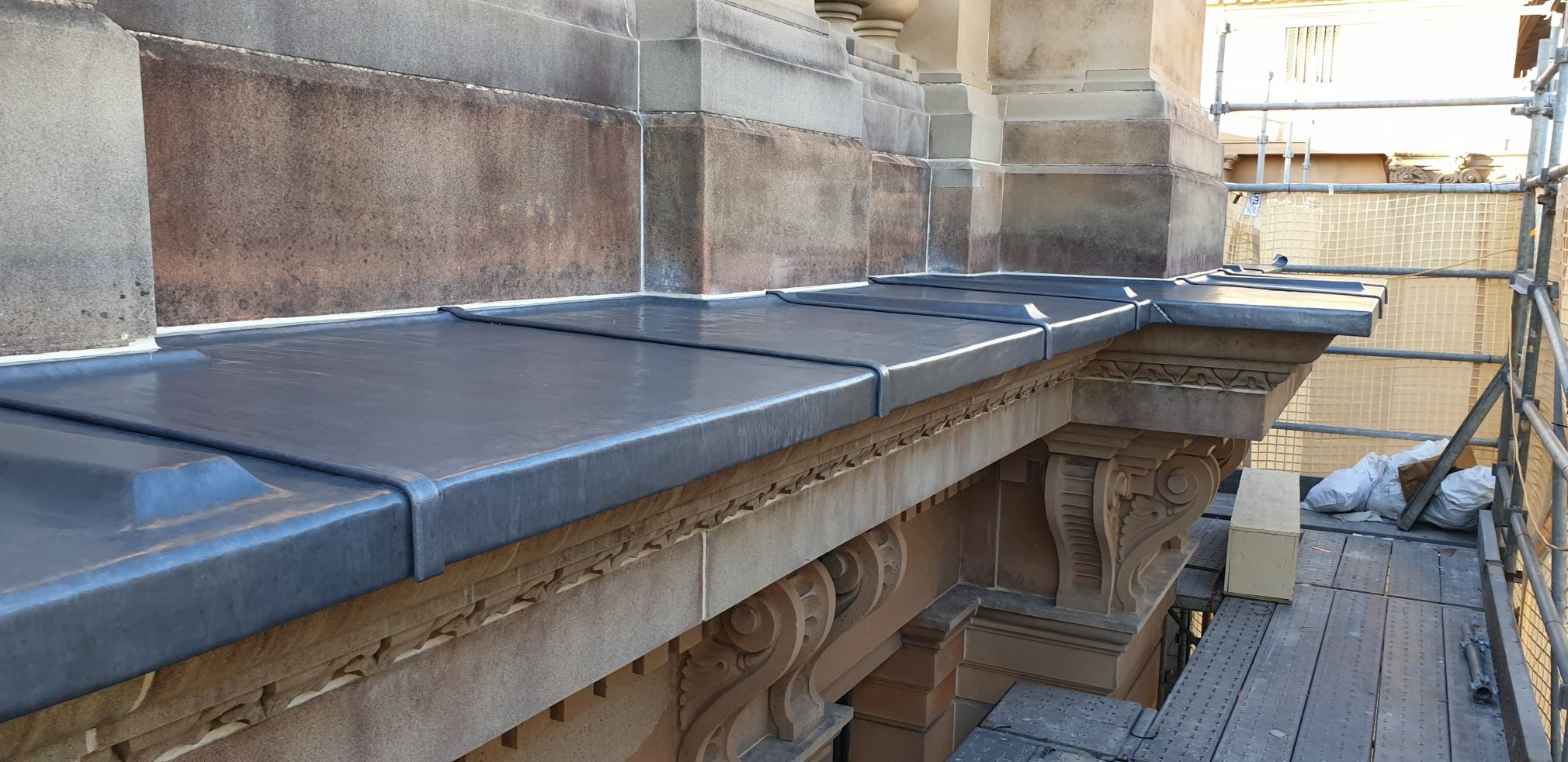 Lead weathering and lead roof